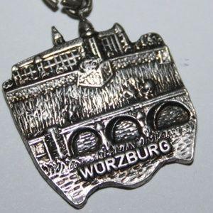 Vintage 800 sterling Wurzburg charm pendant